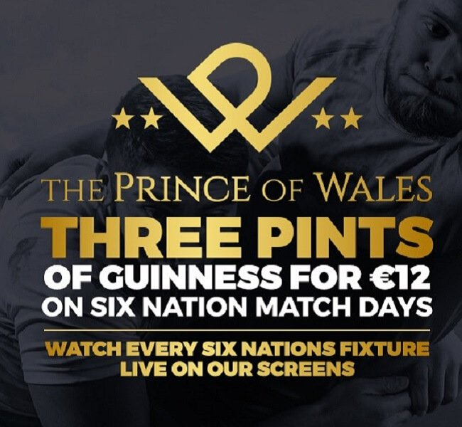 Watch 6 nations rugby in Athlone | The Prince Bar
