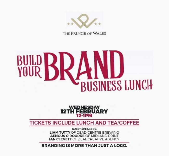Build your brand business lunch | 4* Prince of Wales Hotel